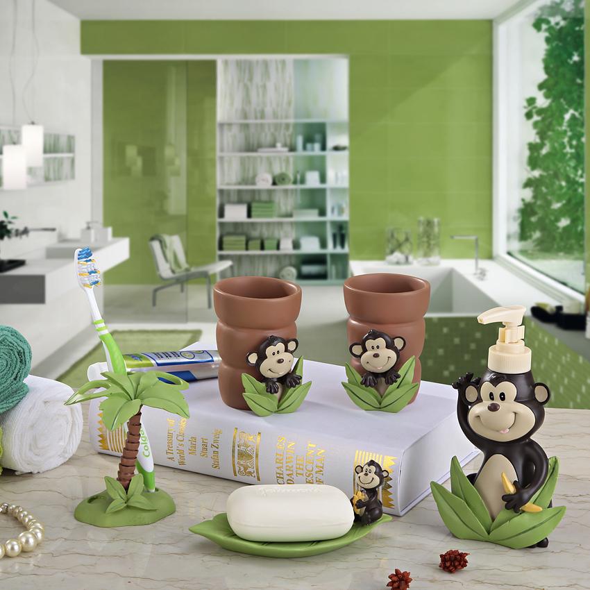 Resin bathroom set of five pieces bathroom suite sanitary for Monkey bathroom set