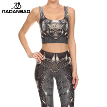 NADANBAO NEW BARBARIAN Crop Top Cosplay Comic Pattern Women Camis Skull Print tank tops Colorful sleeveless Tee Vest(China (Mainland))