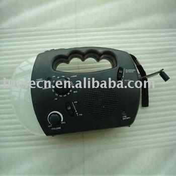 solar radio,Hand Crank radio with Dynamo and  LED flashlight