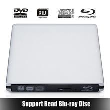 [Ship from Local Warehouse] Bluray Player USB3.0 External CD/DVD RW Burner Writer BD-ROM Blu-ray Drive for Apple Macbook Laptop