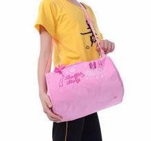 2016 new fashion Free Shipping Embroidered Pink Big Women Kids Girls Handbag Shoulder Dance Ballet Bag Gymnastics training Bag