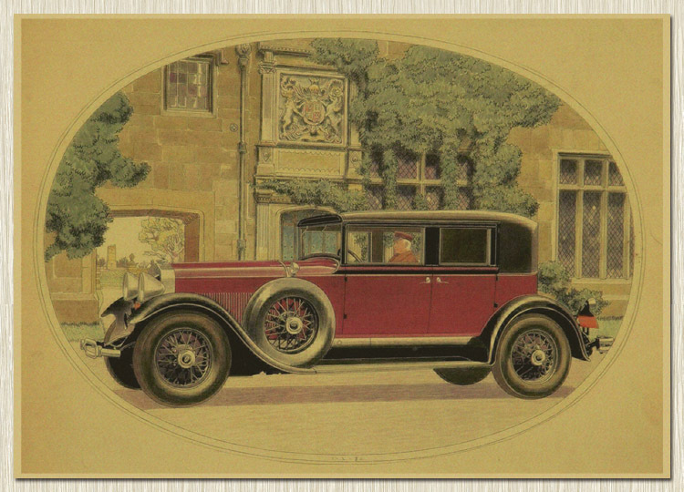Vintage Auto Wall Decor : Home decor wall stickers kraft poster vintage car square