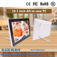 Buy android 4.4/5.1 touch screen White black 10.1 inch IPS Android touch advertising one pc for $235.00 in AliExpress store