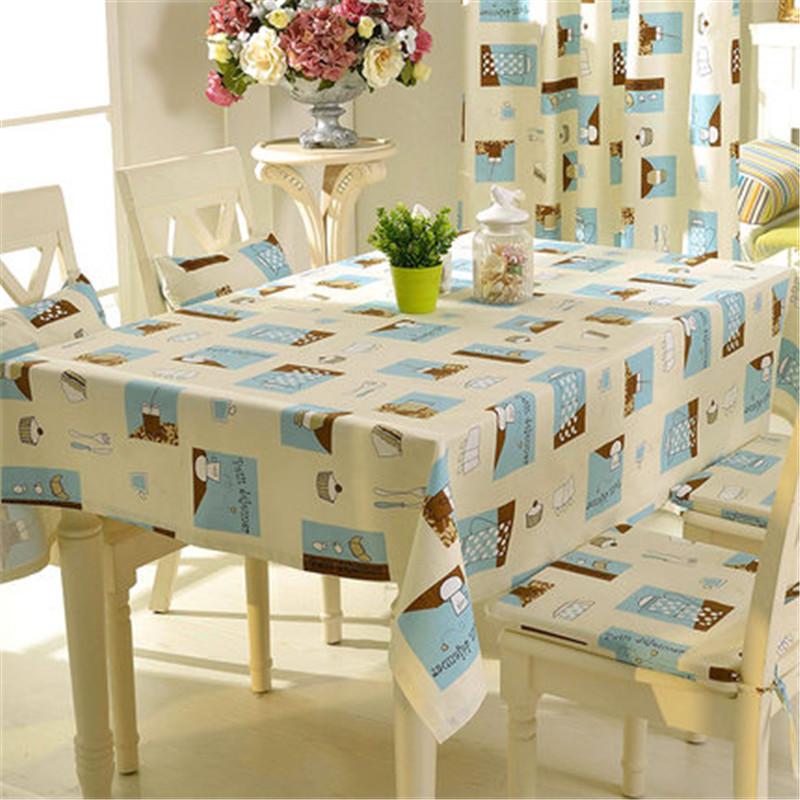 Free Shipping Cartoon Tablecloth Dining Room Tablecloth Cotton& Linen Table Cloth tablecover Chair Pad Pillow(China (Mainland))