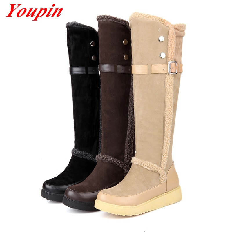 Warm Snow Boots Women Winter Shoes Minimalist Style Wild Section Black/Brown/Apricot 2015 Comfort Leisure Waterproof