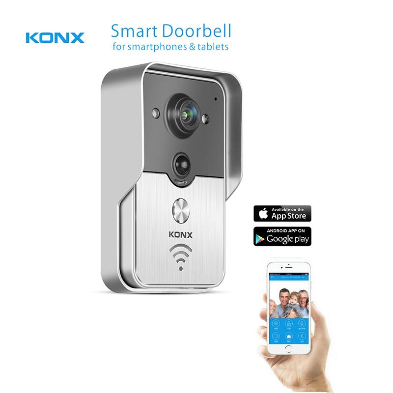 2016 Popular WiFi Wireless Video Door Phone intercom Doorbell Peehole Camera PIR IR Night Vision Alarm Android IOS Smart Home(China (Mainland))