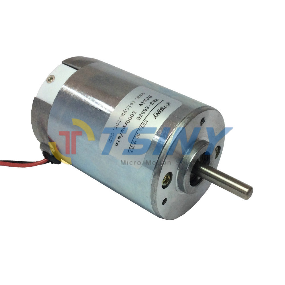 Small 24 Volt Dc Electric Motor 5000rpm Micro Brush Pmdc