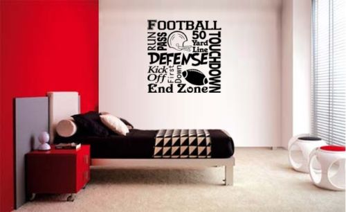 FOOTBALL COLLAGE SUBWAY LETTERING DECAL WALL VINYL DECOR STICKER ROOM  SPORTS KID ROOM WALL STICKER 55x57cm. Kids Sports Room Promotion Shop for Promotional Kids Sports Room