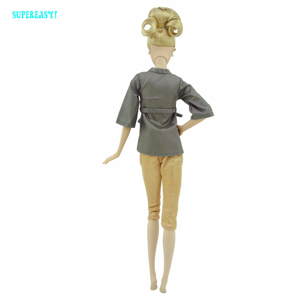 Style Informal Outfit House Costume Dollhouse Costume Bed room Pajamas Shirt Pants Sleeping Garments For Barbie FR Doll Toys Present
