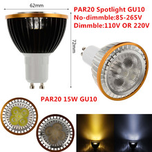 Buy 1PCS New LED PAR20 15W GU10 Dimmable par20 LED Spot Bulb Lamp Light Warm White/Cool White/White Led Spotlight Downlight Lighting for $3.70 in AliExpress store