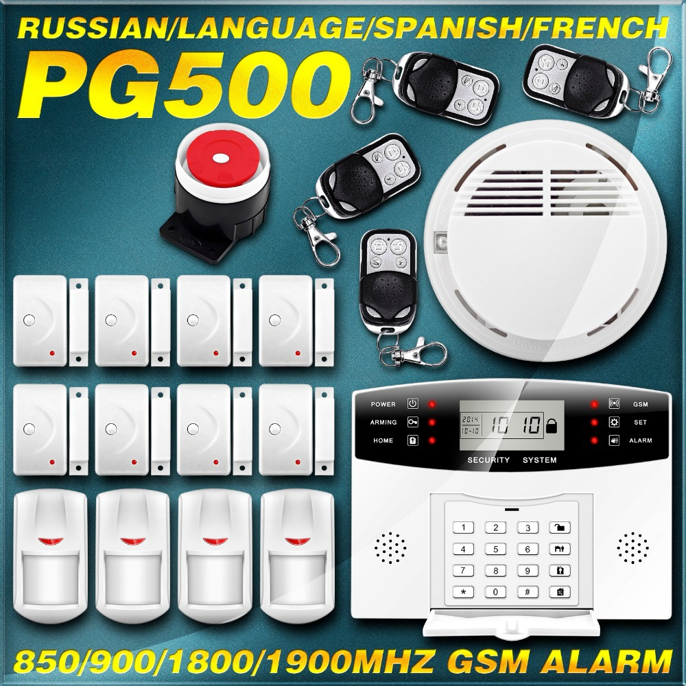 New Upgrade Auto Call GSM Alarm Wireless/Wired Home Security Burglar Voice Alarm System W Back up Battery Russian French Spanish(China (Mainland))