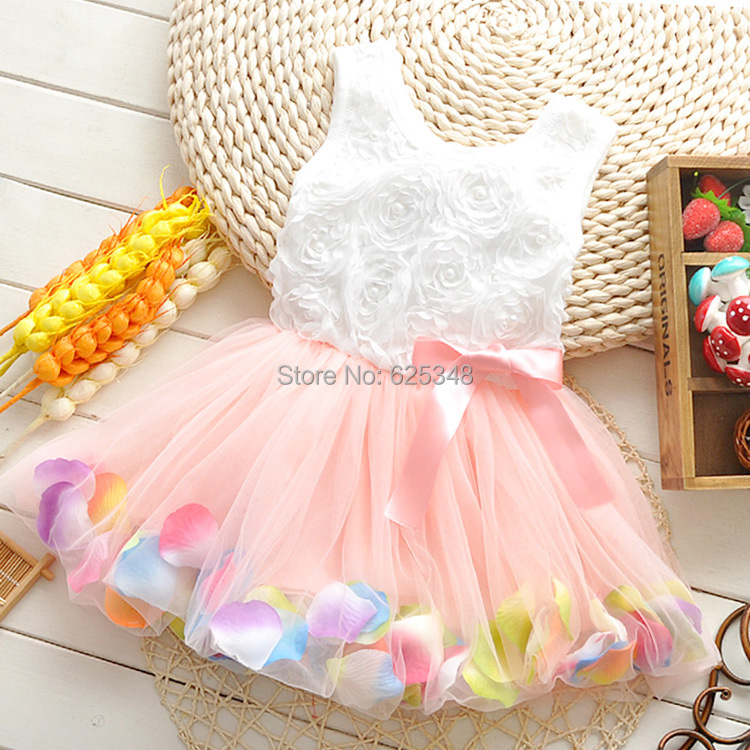 Wholesale 4pcs/lot- Good Quality NEW 2014 Summer floral Baby clothing,kids tutu baby girl dress baby dress pink yellow