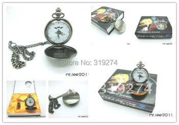 Wholesale/Retail 2014 Fashion Free Shipping FS Fullmetal Alchemist Edward Elric Pocket Watch Cosplay New