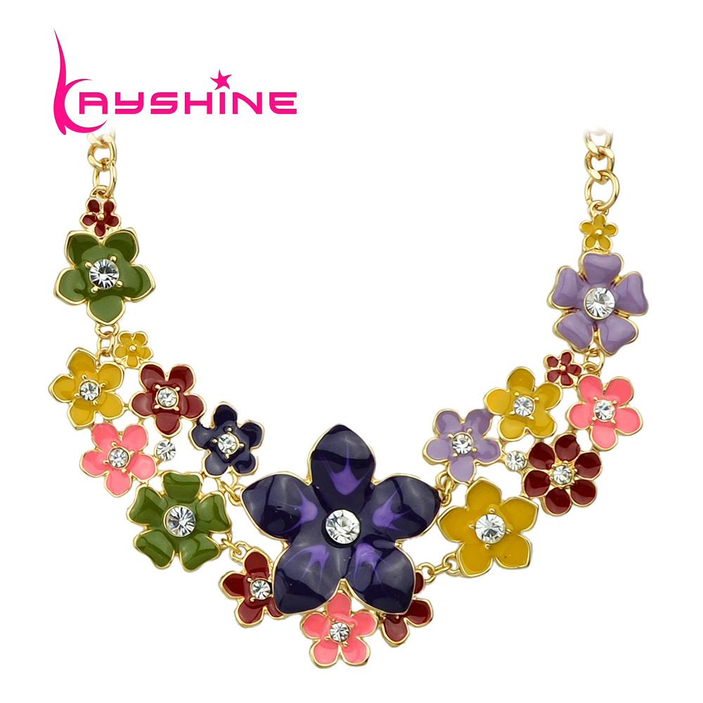 2016 new jewelry colorful enamel and rhinestone