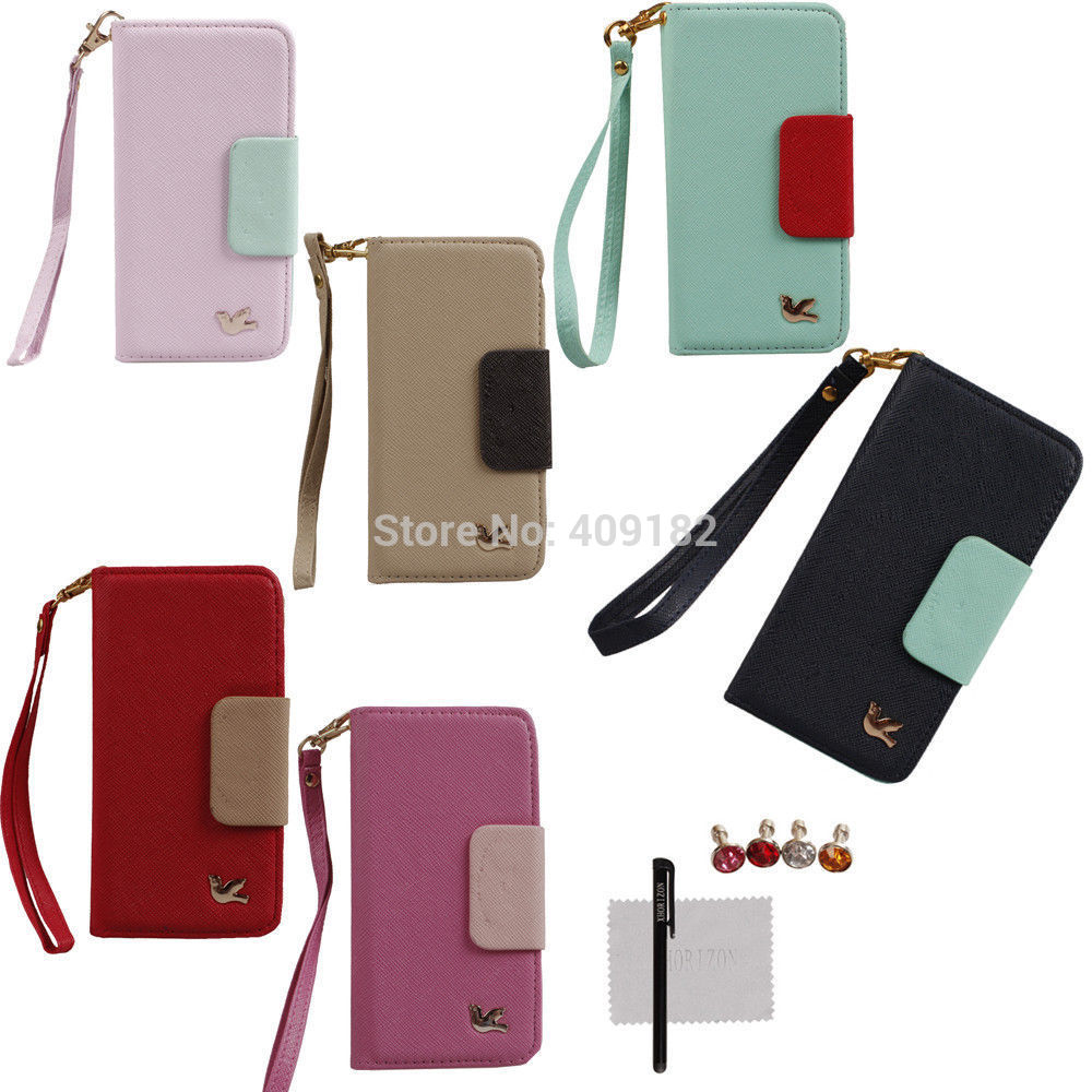 "Deluxe High-quality Flip Wallet Mirror Card Holder Case For iPhone 6 (4.7"" ) & Gifts(China (Mainland))"