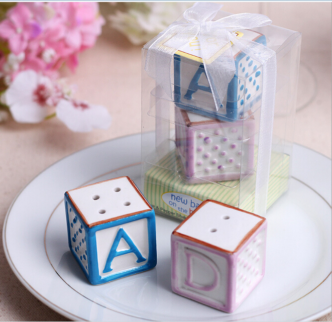 GAGA ! free shipping ABCD alphabet Ceramic spice for baby shower gifts for guests , 20 pcs/ lot ,YK31(China (Mainland))