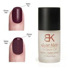 1Pcs 15ML Nail Polish Magic Super Matte Transparent Nails Art Gel Frosted Surface Oil Women Manicure Tool Free Shipping(China (Mainland))