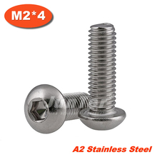 Buy 100pcs/lot ISO7380 M2*4 Stainless Steel A2 Hexagon Socket Button Head Screws for $5.92 in AliExpress store