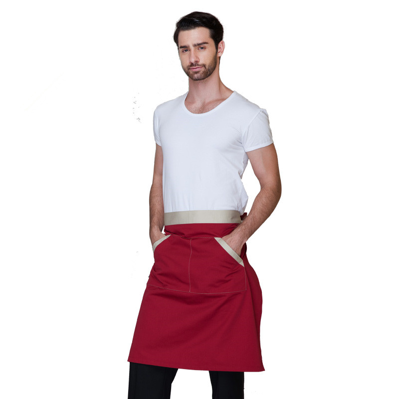 Korean fashion short apron coffee shop food shop juice shop hotel restaurant chef waiter working apron(China (Mainland))