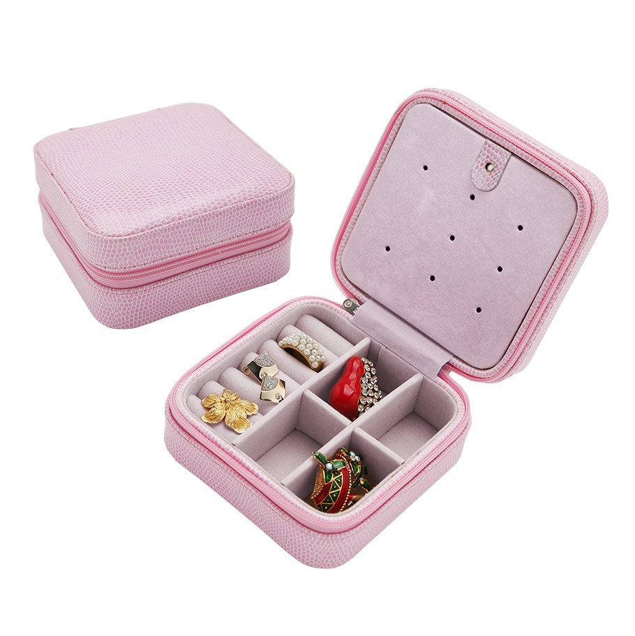 30pcs/lot Korea creative small Jewelry boxes Jewelry Storage Cases portable travel Pu Earrings snake leather box(China (Mainland))