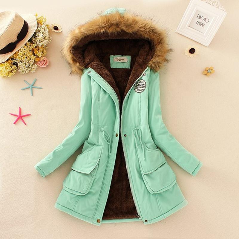 2015 Thicken Warm Winter Fur Collar Jackets for Women New Women's Long Down Parka Plus Size 3XL Parka Hoodies Parkas for Women(China (Mainland))