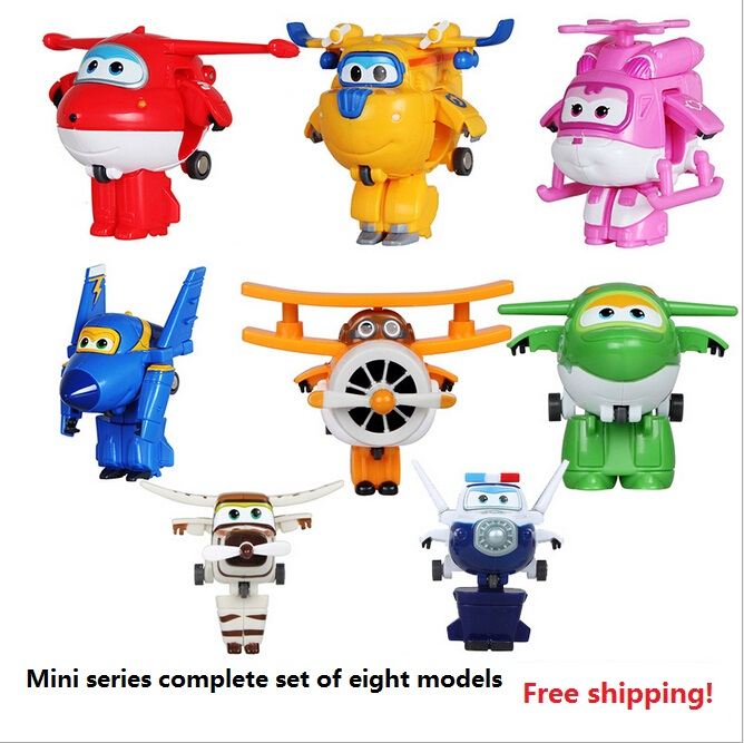 Superwings Free shipping super flash mini robot a full set of its eight children toy gifts for Christmas(China (Mainland))
