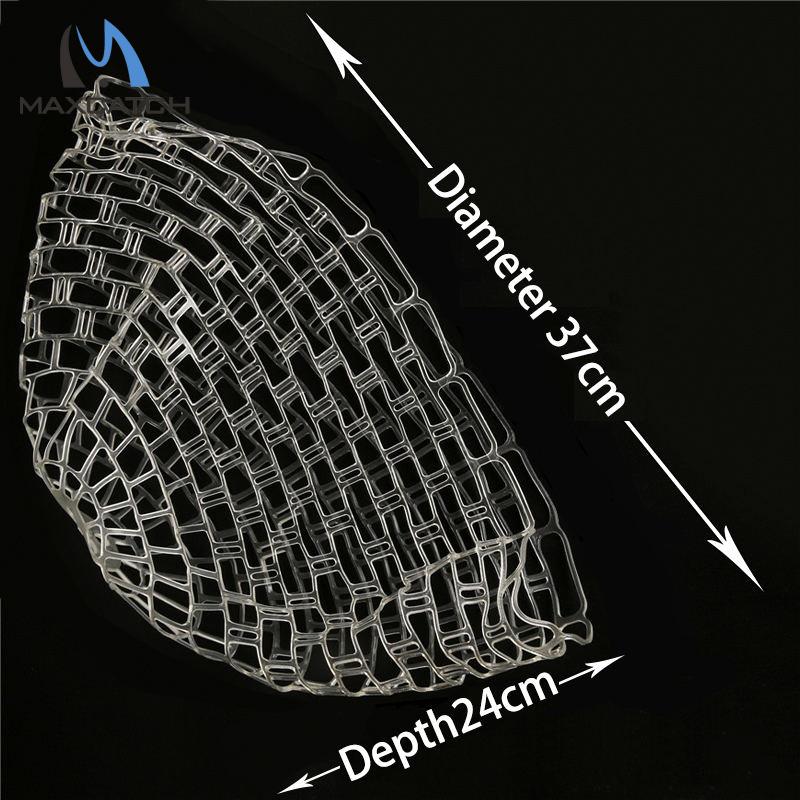 Maxcatch High Quality Fishing Net Dia 37CM(14.6Inch) Depth 24CM(9.5Inch) Rubber Net For Fishing Landing Net(China (Mainland))