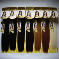 20Packs Janet Collection ENCORE Color1,1B,2,4,27,30,613# Real Hair Mix Futura Fiber Yaki Straight Top-Blended Hair Weaves