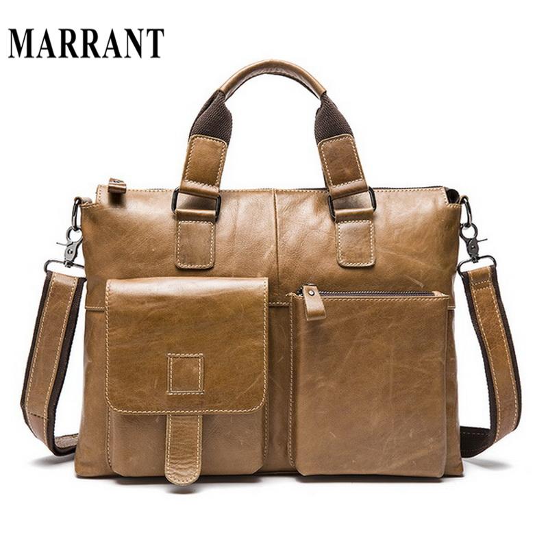Genuine Leather Men Bag Shoulder Bags men's briefcase business laptop men's travel crossbody bags tote Men messenger bags 2016(China (Mainland))