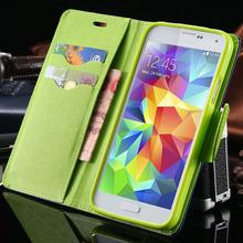 S4 / S5 роскошный PU кожаный чехол для Samsung Galaxy S5 с . в . I9600 бумажник кобура телефон задняя крышка сумка для Samsung Galaxy S4 I9500 SIV