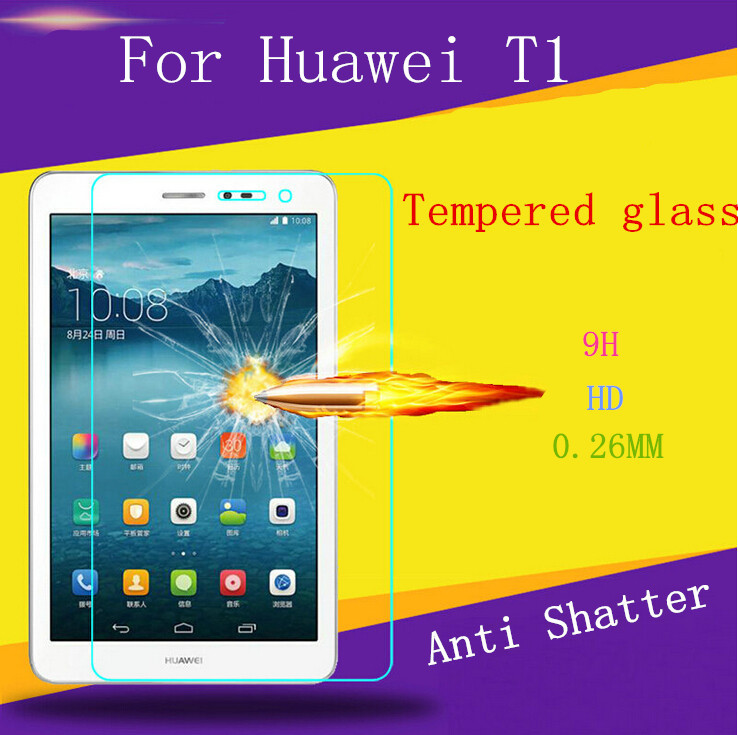 0.26mm Premium Tempered Glass for Huawei Tablet T1 9H Hard 2.5D Arc Edge Screen Protector with Clean Tools(China (Mainland))