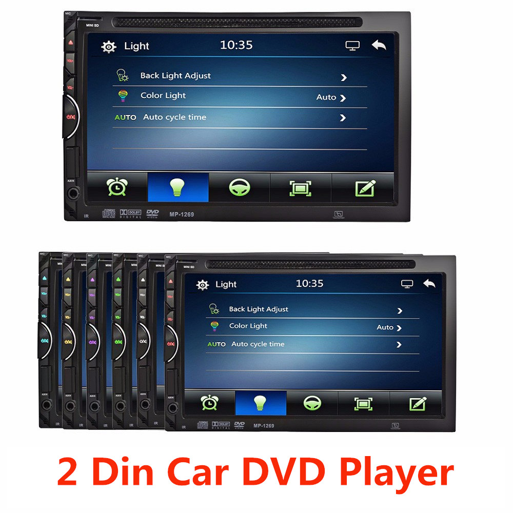 2 Din Car Video Player DVD 7'' HD Touch Screen Bluetooth Stereo Radio Car Audio Auto Electronics Support Rear View Camera(China (Mainland))