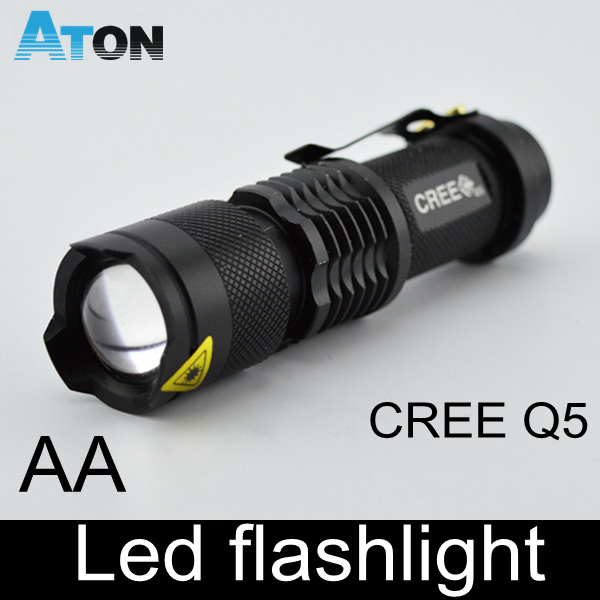 HOT E17 CREE XM-L Q5 led 600LM Aluminum Torches Zoom led Tactical flashlight torch light For AA or 14500 battery rechargeable(China (Mainland))