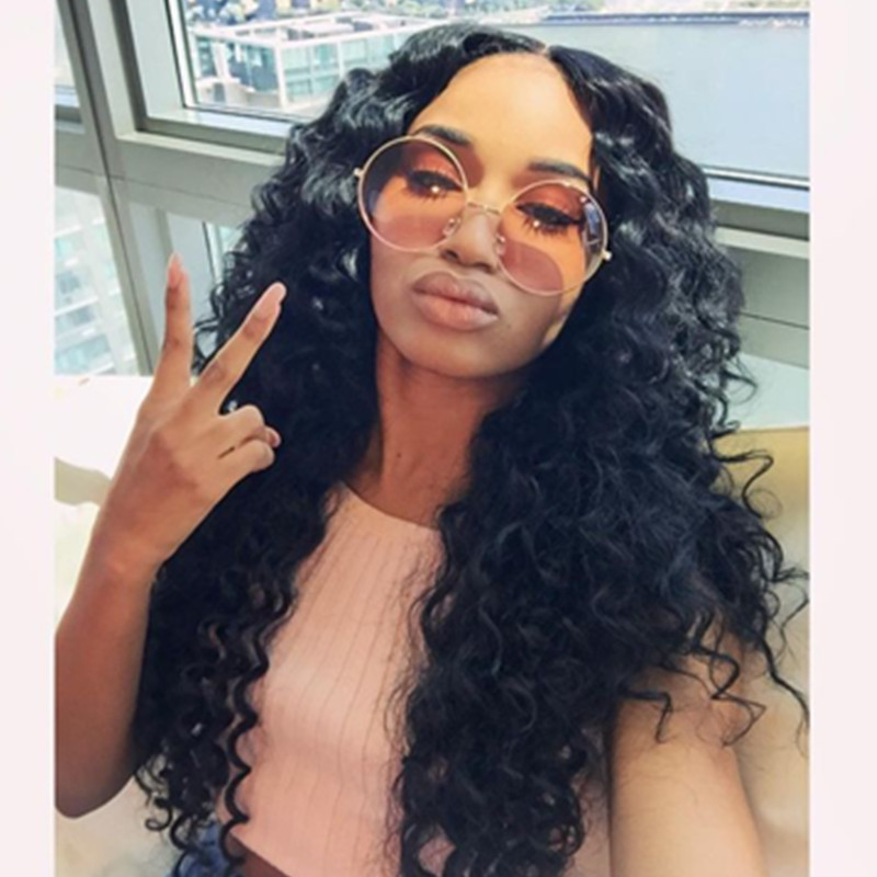 Brazilian Glueless Full Lace Big Loose Curl Human Hair Wigs 8-24inch Brazilian Virgin Human Hair Lace Front Wigs For Black Women
