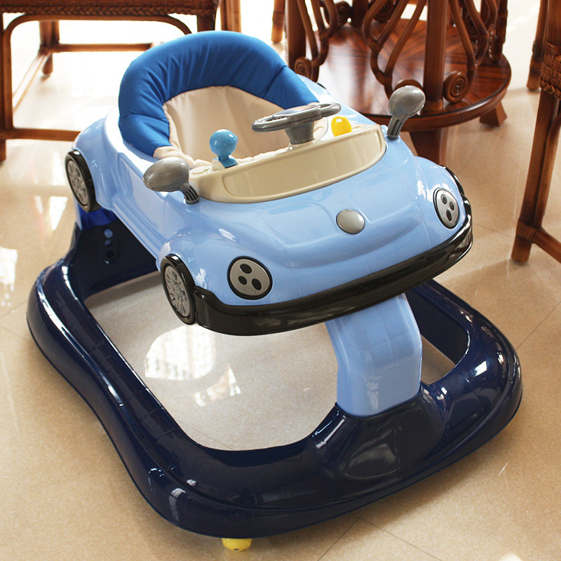 Фотография Simple high-grade infant baby walker with music rollover child children multifunction walker