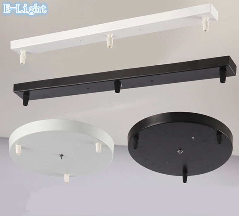 5Heads Three Lamps Chandeliers Base Plate Lighting Accessories Black Or White Round Rectangular Ceiling Base Rose Canopy Plate(China (Mainland))