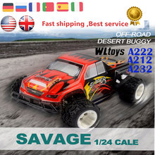 Hobby Monster Truck WLtoys A212 A222 A232 RC Car 1/24 Hight Speed Racing Electric 4WD RC Remote Control Drift Car Gift for Kids(China (Mainland))