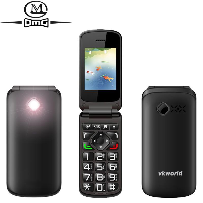 VKWORLD Z2 2.4 inch Dual SIM card Big Keys Flip Mobile Phone Fonts Old Man Camera SOS Cheap Mobile Phone(China (Mainland))