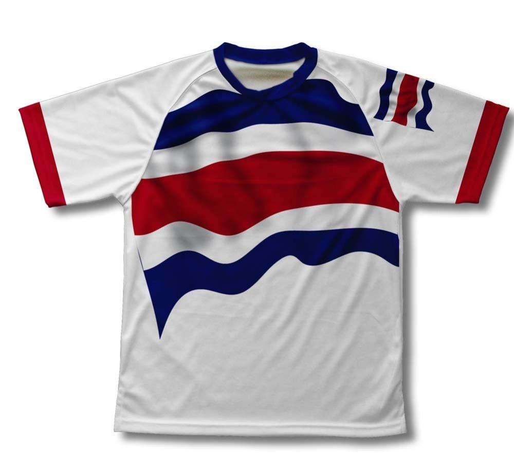 Haeli Brand Costa Rica Flag Cycling T-Shirt for Men and Women bike Shirt<br><br>Aliexpress