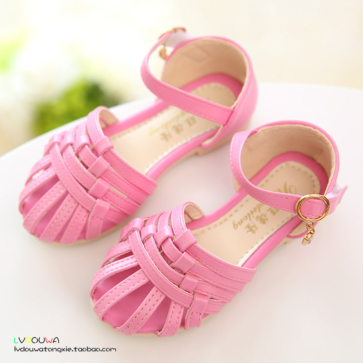 2015 New arrival children girls sandals, fashion 4 colors leather girls summer shoes, us 8.5~12 kids sandals girls freeshipping<br><br>Aliexpress