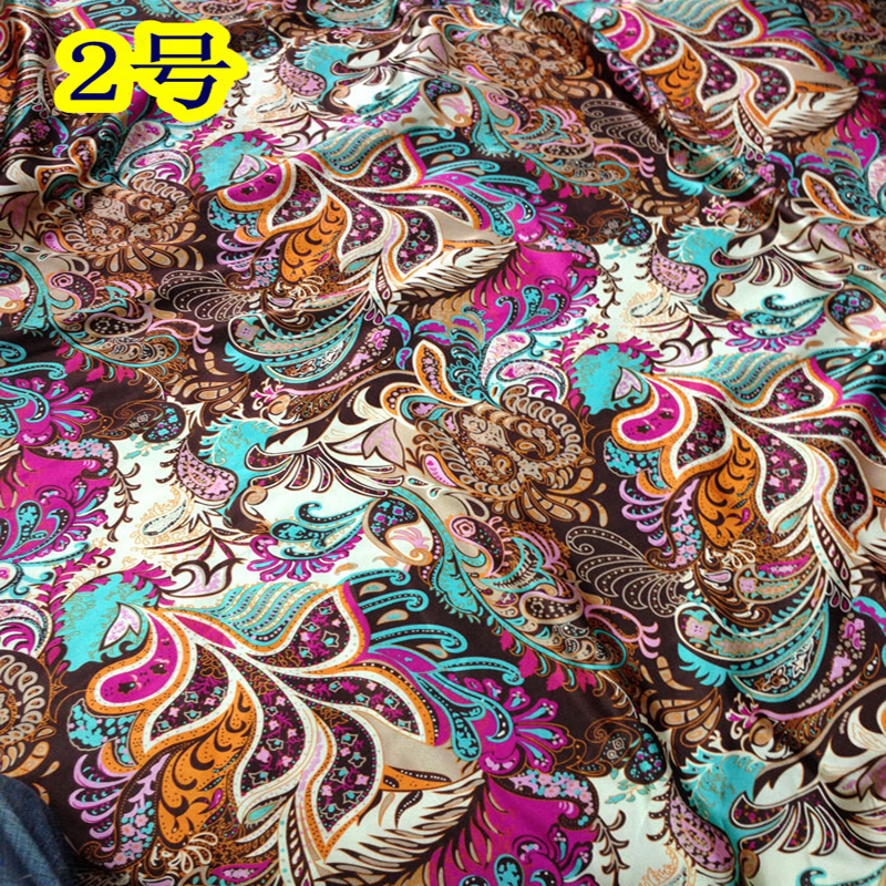 Factory wholesale high quality polyester spandex stretch printed satin fabric(China (Mainland))