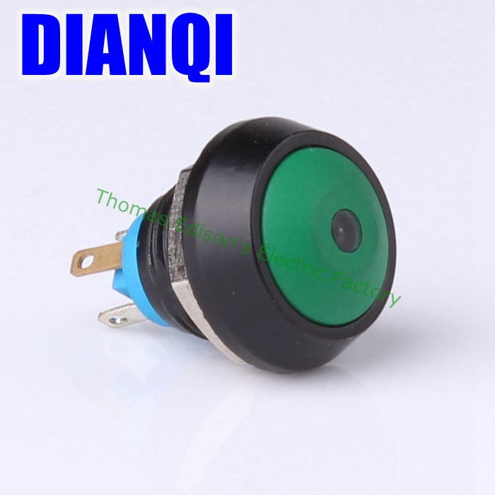12mm Metal Waterproof Zn-al Alloy Push Button Switch domed Momentary 1NO Car press button GQ12B-10D/J/N(China (Mainland))