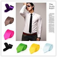новые 2015 года Британский стиль мужчины простой тонкий узкая стрелка галстук галстук тощий галстуков