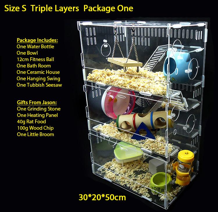 Small Size High Quality Acrylic Transparent Hamster Cage Glass Hamster Cage Hamster Cage 2015 Hot Sale(China (Mainland))