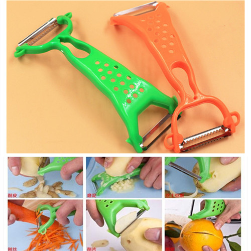 New Creative kitchen stainless steel double-headed fruit peeler multifunction vagetable plane Cooking Utensil Potato grater /F98(China (Mainland))