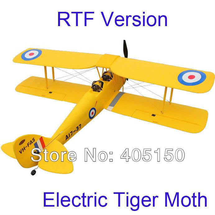 No Battery, RTF RC Plane Toy Tiger Moth 50 inch wingspan(Hong Kong)