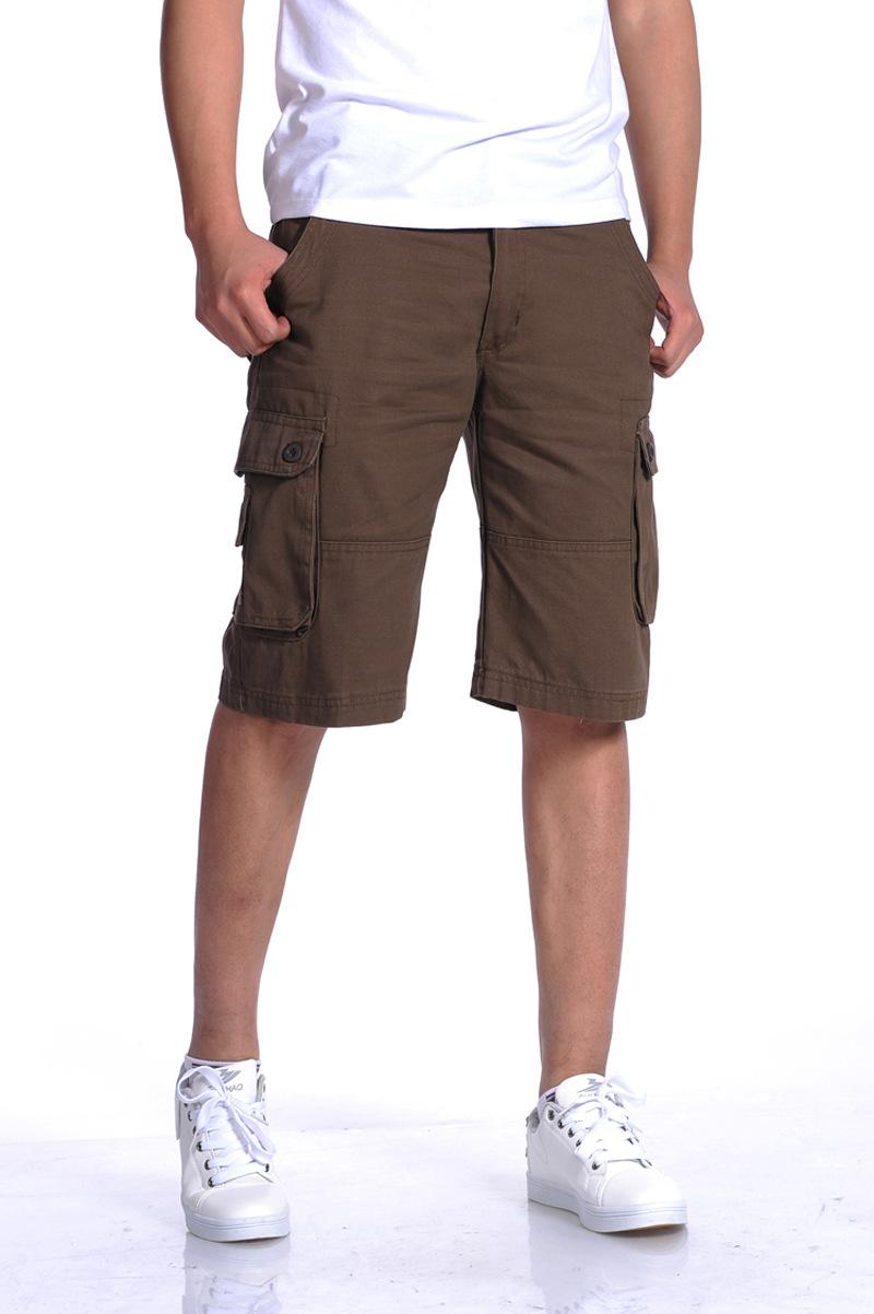 2015 Summer Big Size 40 42 44 46 Mens Cargo Shorts Army Military Cotton Man Shorts Casual Hot Sell(China (Mainland))