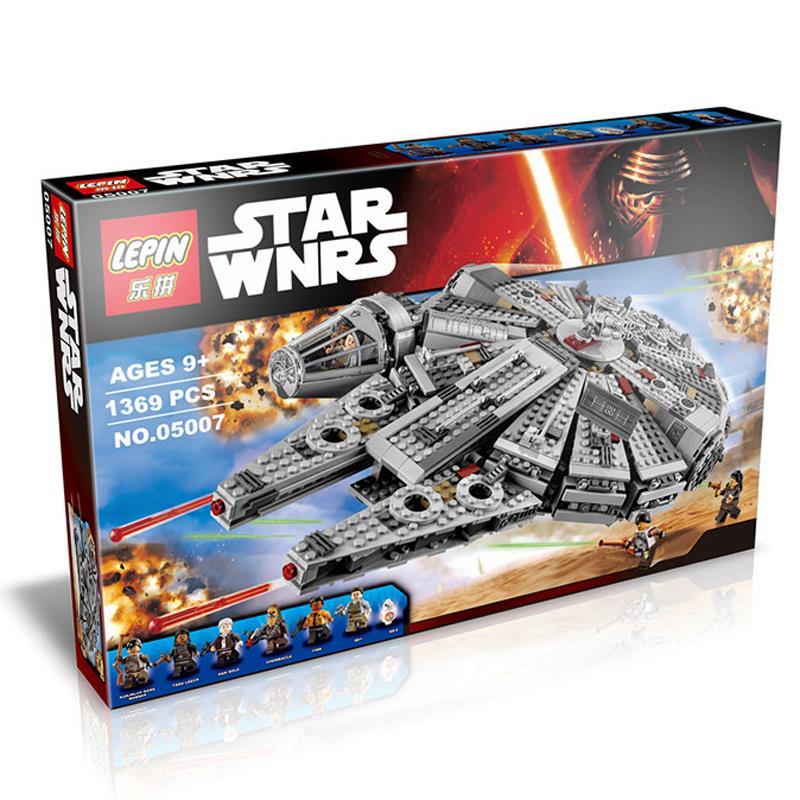 2016 New 1 set Building Blocks Star Wars The Force Awakens Millennium Falcon Model Kits Rey