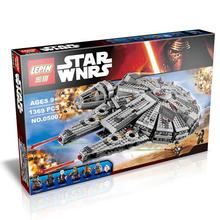 2016 New 1 set Building Blocks Star Wars The Force Awakens Millennium Falcon Model Kits Rey BB-8 MiniFigures with box LP05007