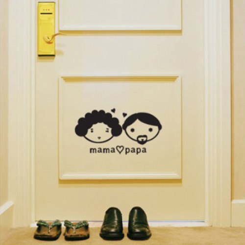 Free shipping mama papa bedroom living my room door decor for Art room door decoration